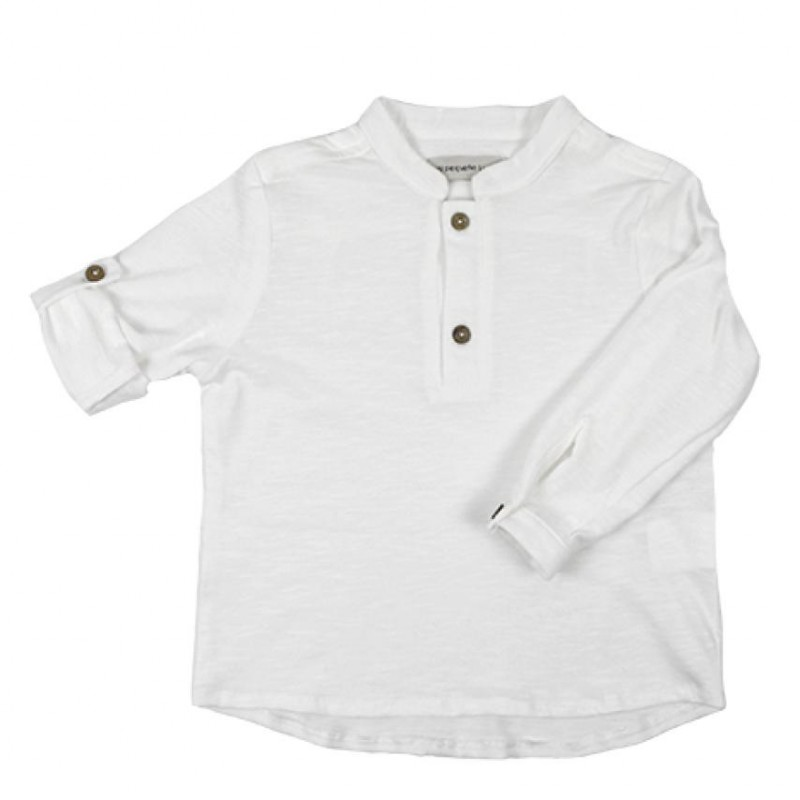 MAO T-SHIRT PUNTO COTTON BLANCO ML