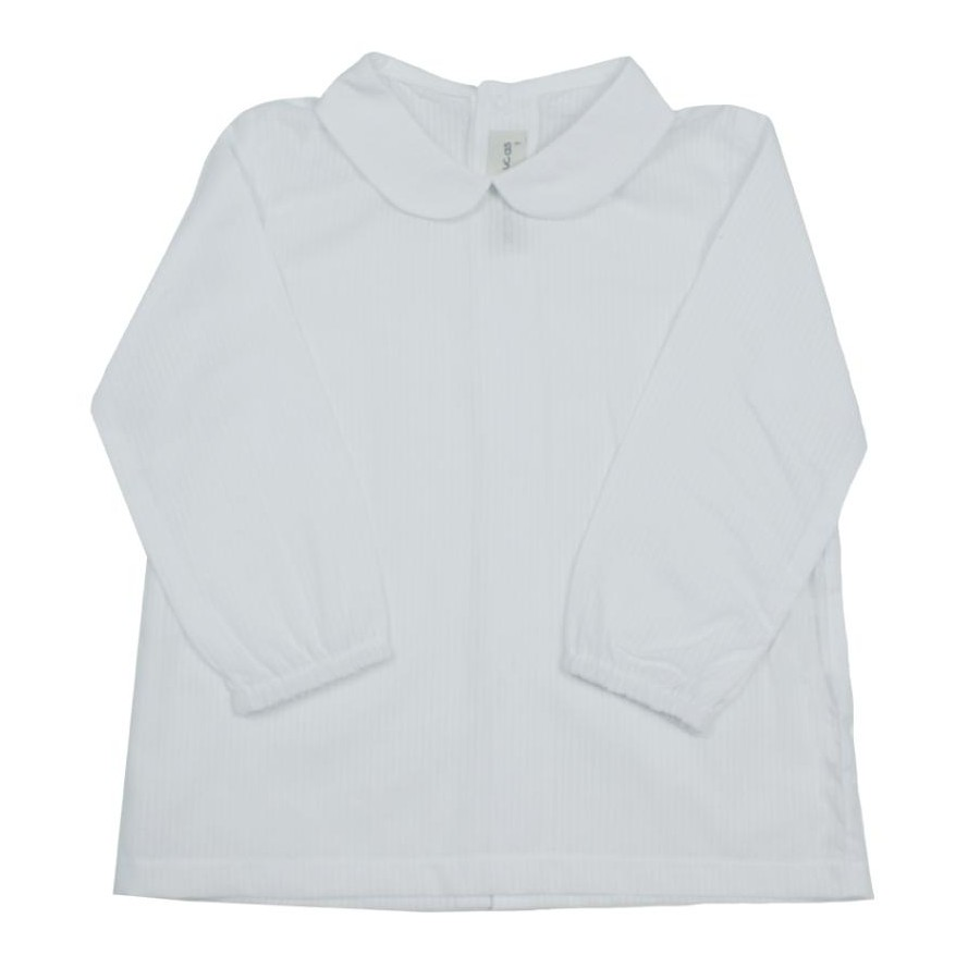 CAMISA BB ML BLANCO RAYADO VOILE