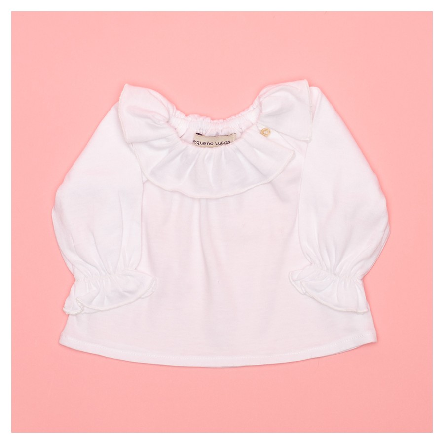 T-SHIRT CARLOTA PUNTO COTTON CUELLO VOLANTE