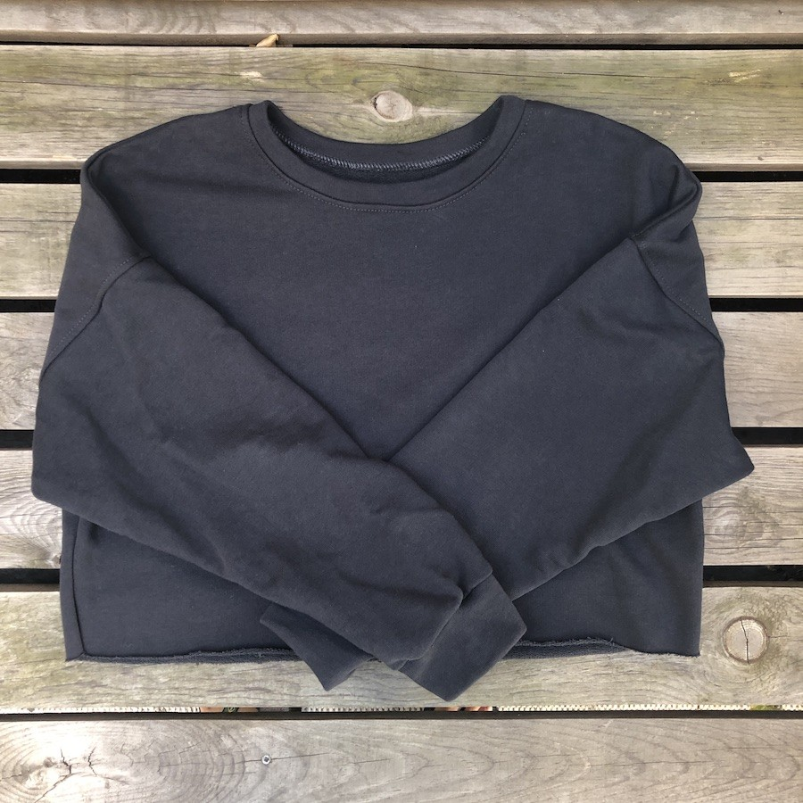 SUDADERA CROP antracita