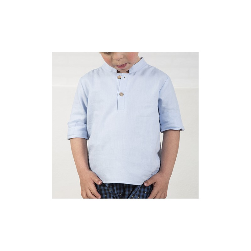 CAMISA MAO BÁSICA ML OXFORD  AZUL